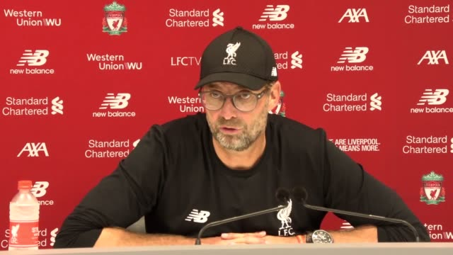 jurgen klopp's speaks to the press after liverpool win 3-1 against arsenal at anfield. the reds' manager says his side were able to maintain space on... - liverpool england stock videos & royalty-free footage