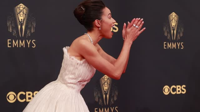 jurnee smollett arrives to the 73rd annual primetime emmy awards at l.a. live on september 19, 2021 in los angeles, california. - emmy awards stock videos & royalty-free footage