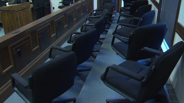 jury box inside courtroom on december 04, 2013 in kankakee , illinois - juror law stock videos & royalty-free footage