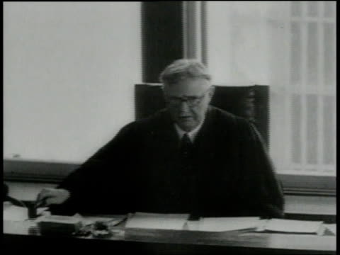 jury find bruno richard hauptmann, accused killer of charles lindbergh's infant son, guilty / new jersey, united states - 1935 stock videos & royalty-free footage