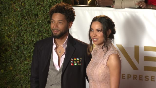 Jussie Smollett and Jurnee SmollettBell at the 49th NAACP Image Awards at Pasadena Civic Auditorium on January 15 2018 in Pasadena California