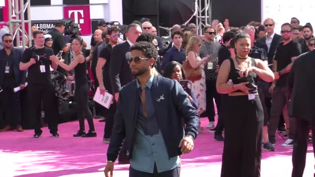 Jussie Smollett arriving to the Billboard Awards at TMobile Arena in Celebrity Sightings in Las Vegas