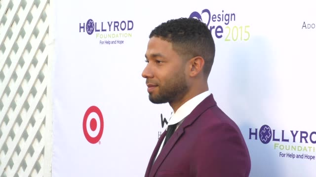 Jussie Smollett at the DesignCare Gala at The Lot Studios on August 08 2015 in Los Angeles California