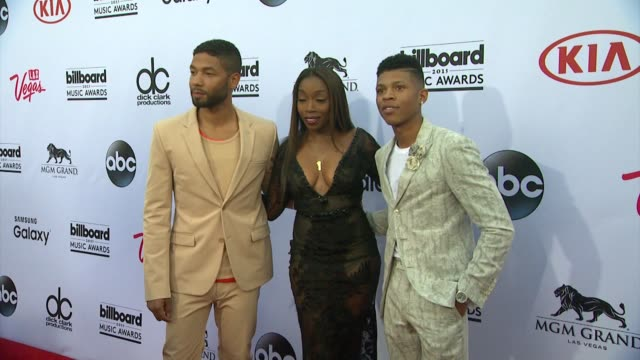 Jussie Smollett Estelle and Bryshere Y Gray at MGM Grand on May 17 2015 in Las Vegas Nevada