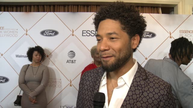 INTERVIEW Jussie Smollett on growing up in rooms of beautiful strong black women at the ESSENCE Hosts its 11th Annual Black Women in Hollywood...