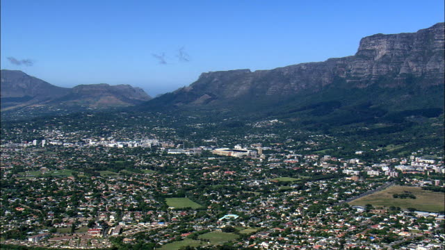 just cape town suburbs - aerial view - western cape,  city of cape town,  south africa - justice concept stock videos & royalty-free footage