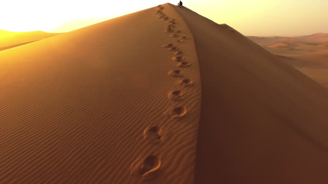 just footprints and sand - desert stock videos & royalty-free footage