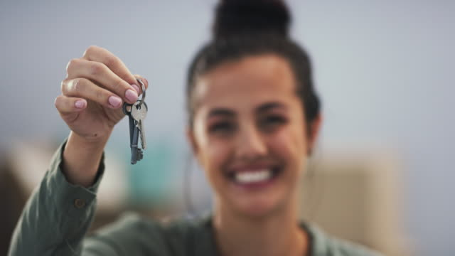 i just got the keys! - moving house stock videos & royalty-free footage