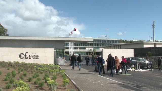 vídeos de stock, filmes e b-roll de just over two months before euro 2016 kicks off in france the portuguese football federation inaugurates a new training ground outside lisbon where... - euro 2016
