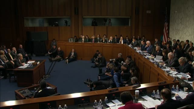 justice department inspector general michael horowitz reports to the senate judiciary committee in a prepared statement that at a hearing on his... - court hearing stock videos & royalty-free footage