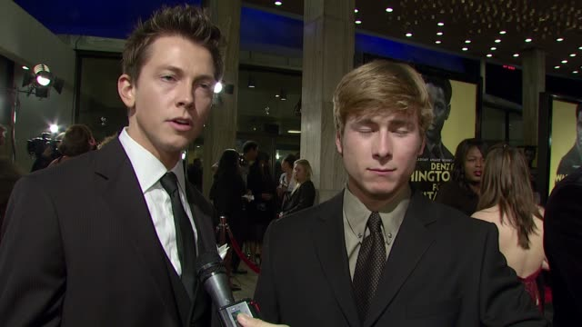 justice leak and glen powell jr on being in the movie, filming at harvard, attending debate camp, tips on winning an argument in everyday life, and... - missions of california film title stock videos & royalty-free footage