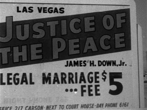 cu 'justice of the peacelegal marriage$5 fee' sign - 1952 stock videos & royalty-free footage