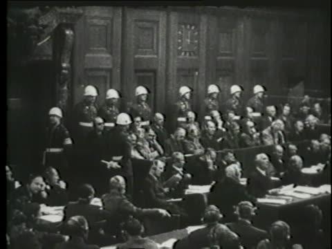 justice robert h. jackson makes his opening statement at the nuremberg trials. - nuremberg trials stock videos & royalty-free footage