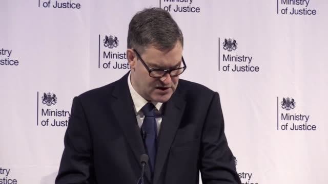 justice secretary david gauke says drugs are the biggest cause of violence in prisons, with prisoners operating a deliveroo style service, bringing... - audio available stock-videos und b-roll-filmmaterial