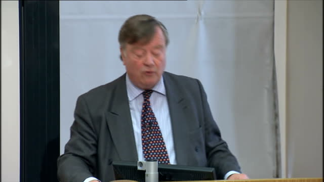 justice secretary ken clarke speech on criminal justice reform; ken clarke speech sot - nobody feels more strongly than this government about the... - politics and government stock videos & royalty-free footage