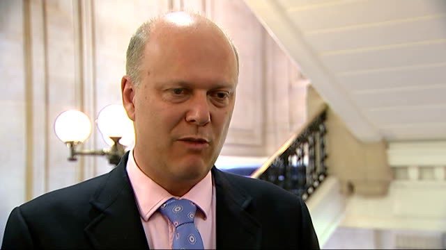 justice secretary promises to tighten guidelines for day release england london westminster int chris grayling mp interview sot graying chatting to... - tighten stock videos and b-roll footage
