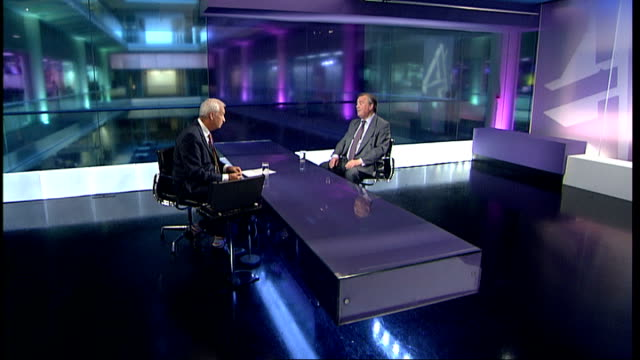 justice secretary refutes link between prison population and crime figures england london gir int ken clarke mp studio interview sot discusses... - john w. snow politician stock videos and b-roll footage
