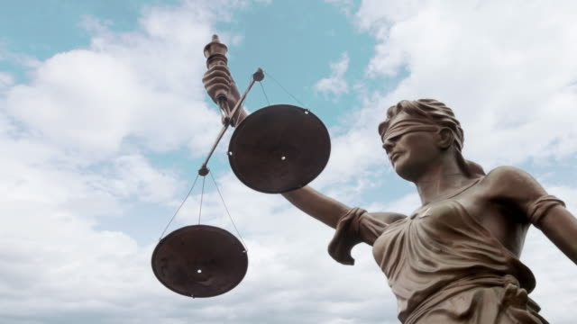 justice statue - weight scale stock videos & royalty-free footage