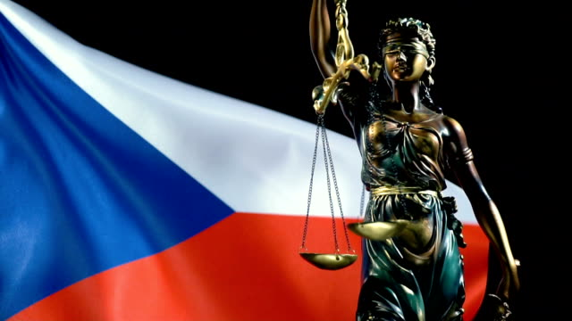 justice statue with czech flag - traditionally czech stock videos & royalty-free footage