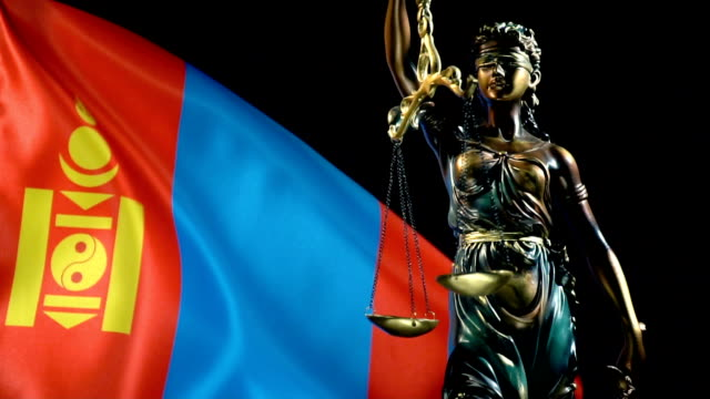 justice statue with mongolian flag - juror law stock videos & royalty-free footage