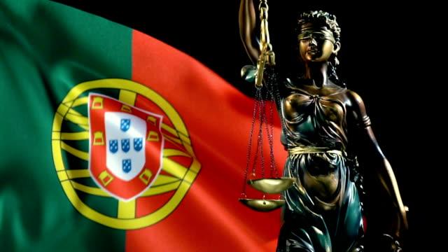 Justice Statue with Portuguese Culture