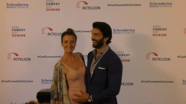 Justin Baldoni and Emily Baldoni at the Cool Comedy Hot Cuisine 30th Annual Benefit For The Scleroderma Research Foundation at the Beverly Wilshire...