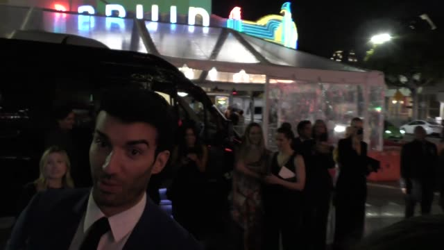 justin baldoni outside the five feet apart premiere at fox bruin theatre in westwood in celebrity sightings in los angeles - bruin theater stock videos & royalty-free footage
