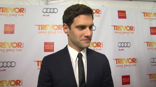 justin bartha why he supports the trevor project what he is most looking forward to and why katy perry is deserving of the trevor hero award also... - the trevor project stock videos and b-roll footage