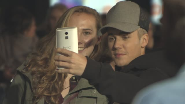 Justin Bieber at 'Jumpers for Goalposts' World Premiere on October 22 2015 in London England
