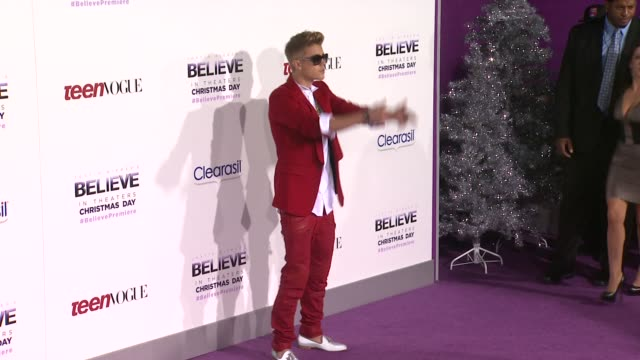 justin bieber diane dale pattie mallette and bruce dale at justin bieber's believe premiere in los angeles ca on 12/18/13 - justin bieber stock videos & royalty-free footage