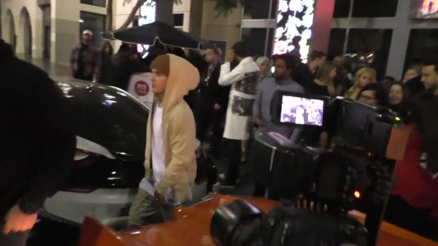 Justin Bieber French Montana leave dinner at House Of Macau in Hollywood in Celebrity Sightings in Los Angeles