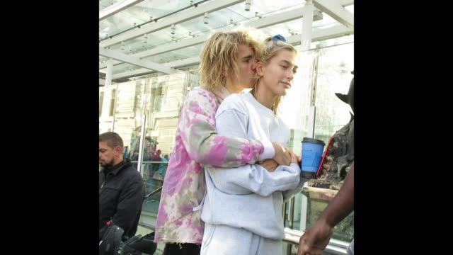 justin bieber hailey baldwin at celebrity sightings in london - justin bieber stock videos & royalty-free footage