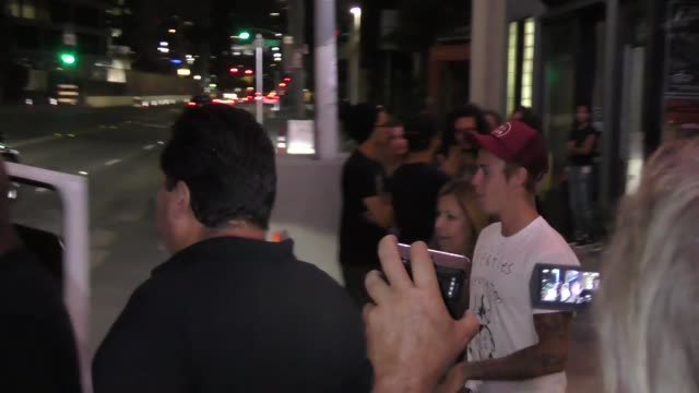 Justin Bieber leaving Hillsong church at Saban Theatre in Beverly Hills in Celebrity Sightings in Los Angeles
