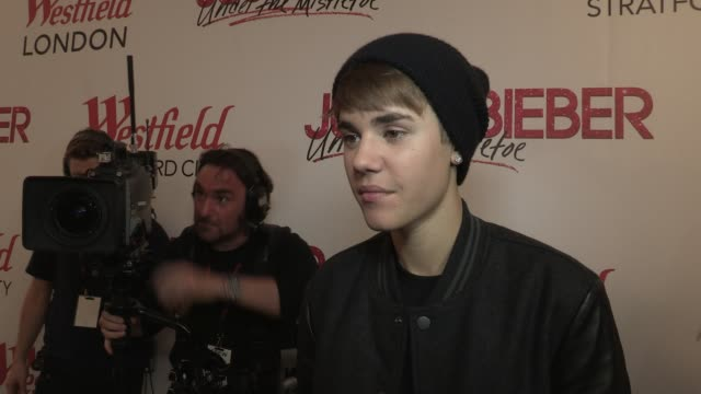 Justin Bieber on rivalry between him and Lady Gaga at the Justin Bieber Turns On Westfield Christmas Lights at London England