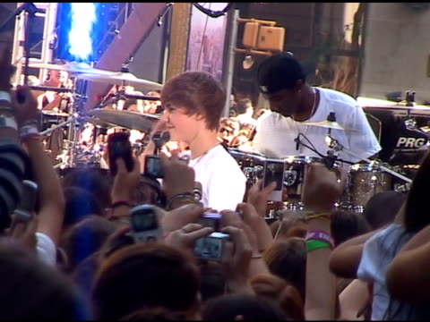 Justin Bieber on the Today Show in New York at the Celebrity Sightings in New York at New York NY