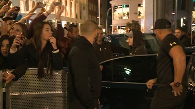 Justin Bieber visits Los 40 Principales studios in Madrid