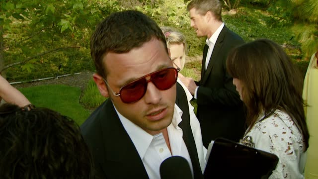 justin chambers on getting involved and supporting chrysalis at the chrysalis butterfly ball at a private residence in los angeles california on june... - chrysalis butterfly ball video stock e b–roll