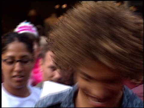 justin guarini at the american idol finale at the kodak theatre in hollywood california on september 4 2002 - american idol stock videos and b-roll footage