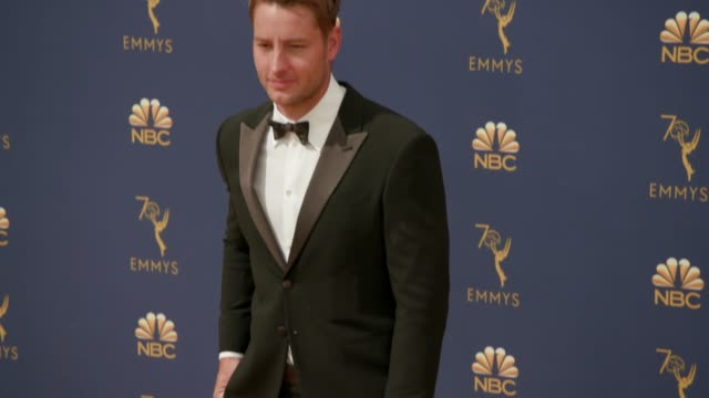vídeos de stock, filmes e b-roll de justin hartley at the 70th emmy awards arrivals at microsoft theater on september 17 2018 in los angeles california - 70th annual primetime emmy awards