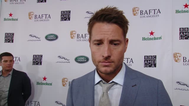 interview justin hartley on why the bafta la tv tea party is a mustattend event what he is most looking forward to at 2018 bafta los angeles bbc... - bafta la tea party stock videos and b-roll footage