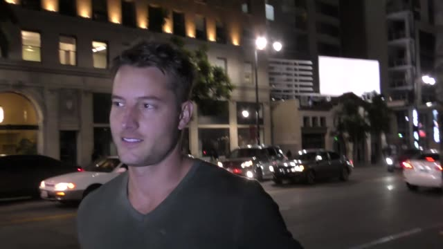 justin hartley talks about crazy soap opera story lines outside katsuya restaurant in hollywood in celebrity sightings in los angeles, - soap opera stock videos & royalty-free footage