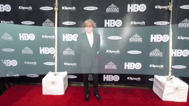 justin hayward at the 33rd annual rock roll hall of fame induction ceremony arrivals at public auditorium on april 14 2018 in cleveland ohio - justin hayward stock videos and b-roll footage