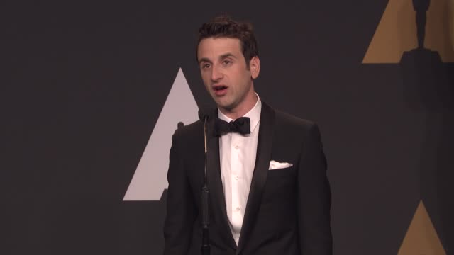 SPEECH Justin Hurwitz on the cut song 'La La Land' on hearing the song 'City of Stars' whistled/played by people on Los Angeles being an inspiration...
