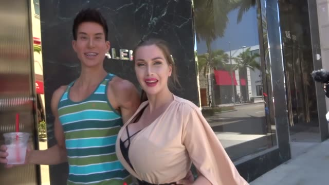INTERVIEW Justin Jedlica Pixie Fox talk about their plastic surgery while shopping in Beverly Hills in Celebrity Sightings in Los Angeles
