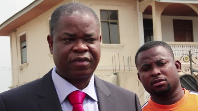 justin kone katinan the spokesperson for former ivory coast president laurent gbagbo appeared in court in accra on thursday for an extradition... - côte d'ivoire stock videos & royalty-free footage