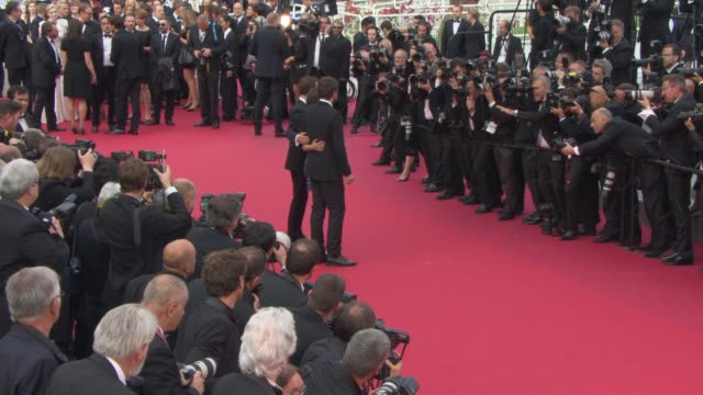 justin kurzel, marion cotillard, michael fassbender at 'macbeth' red carpet at palais des festivals on may 23, 2015 in cannes, france. - macbeth fictional character stock videos & royalty-free footage