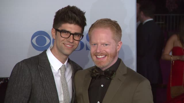 justin mikita jesse tyler ferguson at 2012 people's choice awards arrivals on 1/11/12 in los angeles ca - jesse tyler ferguson stock videos and b-roll footage