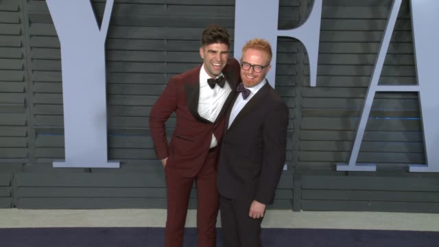 Justin Mikita Jesse Tyler Ferguson at 2018 Vanity Fair Oscar Party on March 04 2018 in Beverly Hills California