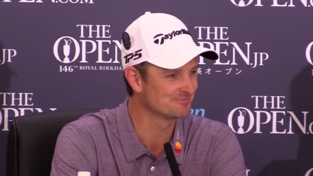 justin rose will take inspiration from the unlikely combination of lego and roger federer as he seeks to take care of some unfinished business by... - the open championship stock-videos und b-roll-filmmaterial