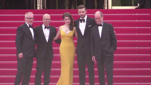 Justin Timberlake and Anna Kendrick on the red carpet for the Premiere of Cafe Society and the Opening Ceremony of the Cannes Film Festival 2016...